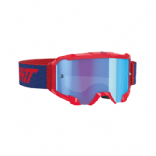 New 2020 Adult Leatt 4.5 Goggles Velocity Motocross Enduro Goggles RED - BLUE LENS